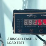 Breaking load test, tear strength, climbing equipment, safety, work at height, laboratory