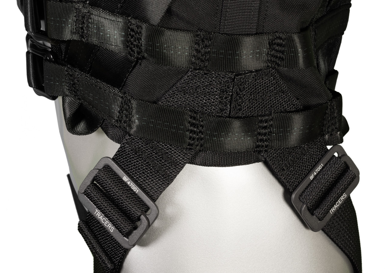 Stunt harness vest for woman