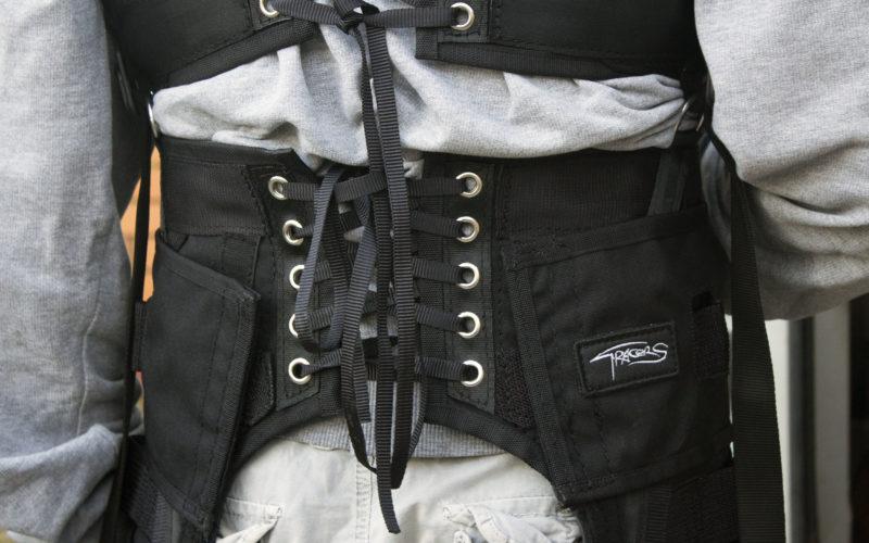 Custom stunt harness for jub arm