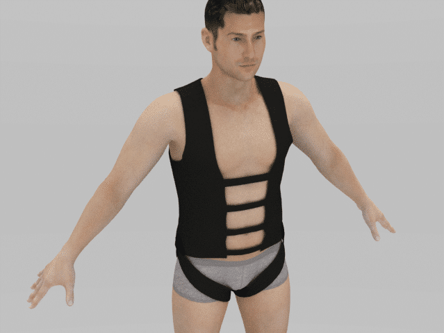 3D fitting of stunt harness