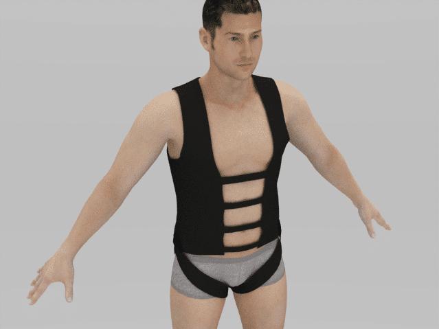 3D fitting of stunt harness