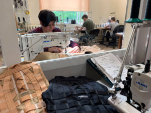 Tracers sewing manufacture facility, stunt harnesses, safety equipment